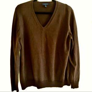 Vintage Lands' End Supima Cotton V-Neck Sweater